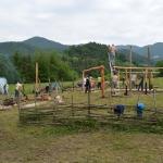 Gradnja prazgodovinske kmetijeGradnja prazgodovinske kmetije