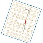 Tloris Emone z označenim območjem raziskav