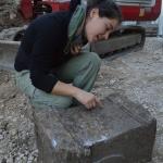 Slika 11: Le kaj piše na njem? Votivni kamen je posvečen vodnemu božanstvu Fontu.