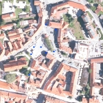 Slika 1: Načrt lokacij testnih jarkov (Skupina STIK)
