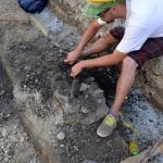 Čiščenje prazgodovinskega groba