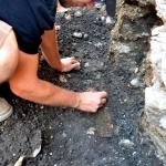 Čiščenje zgodnje rimskega meča